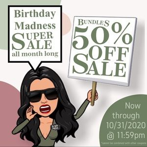 SALE HALF-OFF BUNDLES BIRTHDAY MONTH 50% OFF SALE